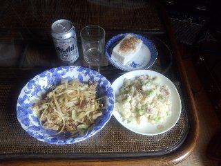 枝豆とベーコン入りポテトサラダ