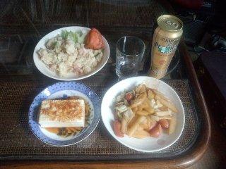 ベーコンと枝豆のポテトサラダ2