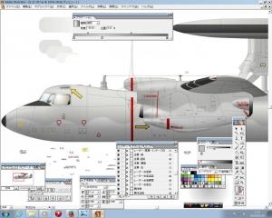 E-2C 描きかけ 1