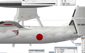 E-2C 描きかけ 4