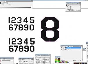 数字 5 7 角おとし