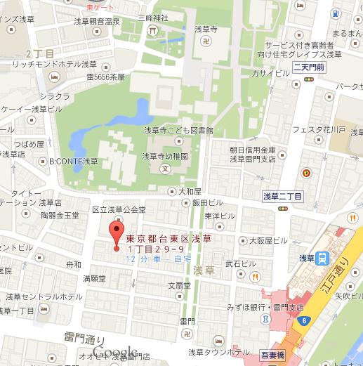浅草Bell 地図