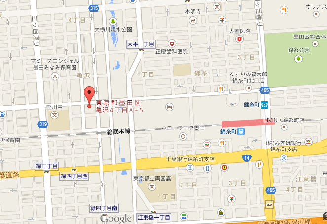 北斎茶房 地図