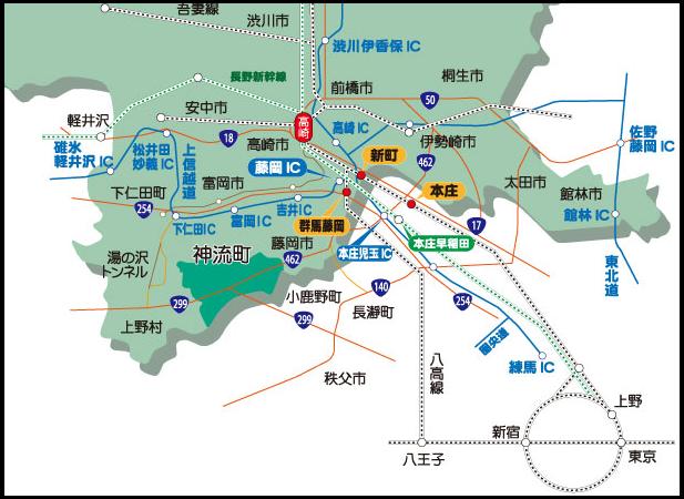 神流町 地図
