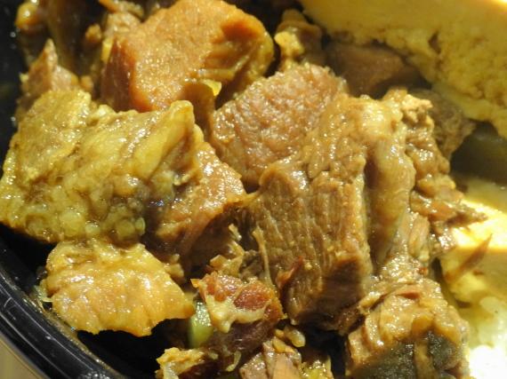 豆腐肉めし 牛肉拡大2