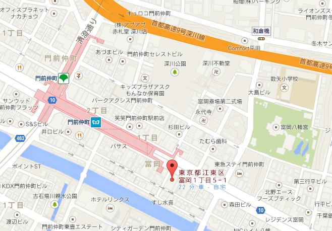 門前茶屋 地図