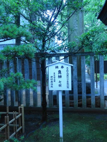 葛飾八幡宮 奉納された植木
