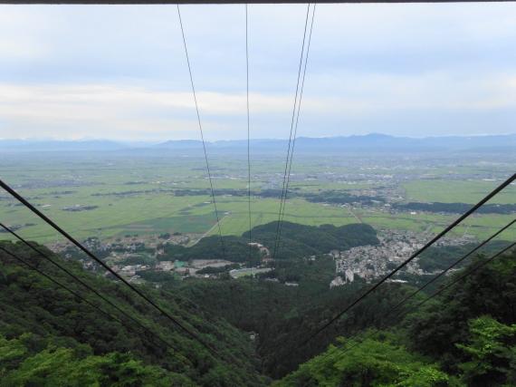 弥彦山ロープウェイからの景色