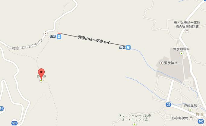 弥彦山 地図