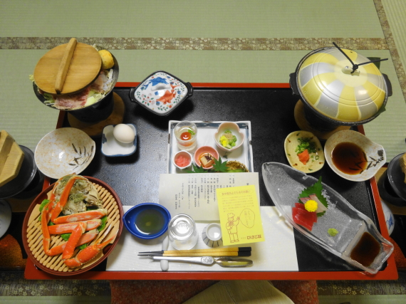 ひさご荘 夕ご飯