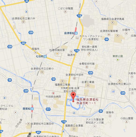 鶴ヶ城 地図