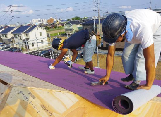 06+屋根工事 ルーフィング02_convert_20140725135409