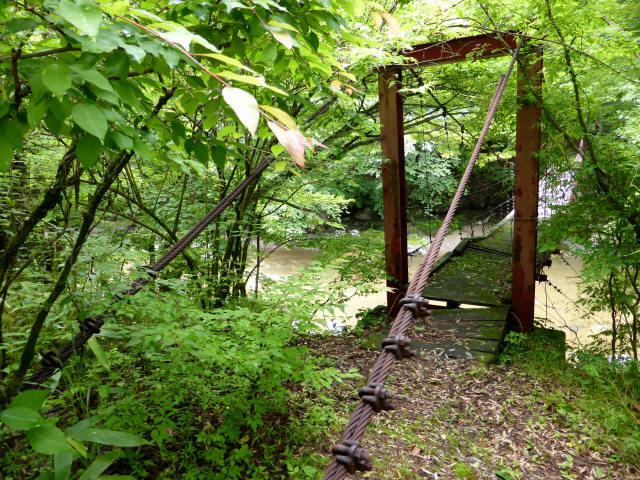 五軒小屋の吊橋1