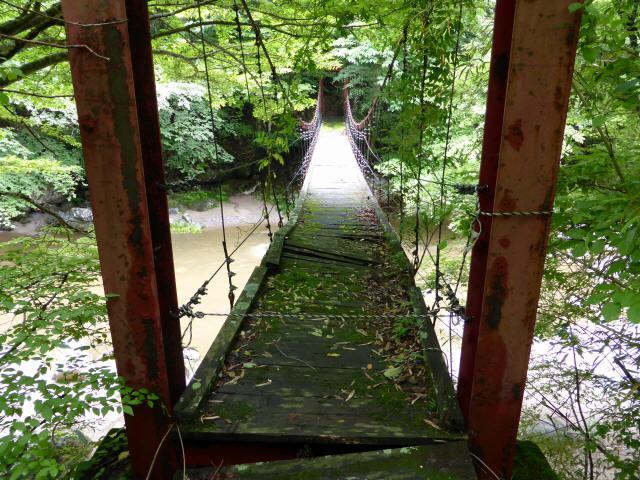 五軒小屋の吊橋2