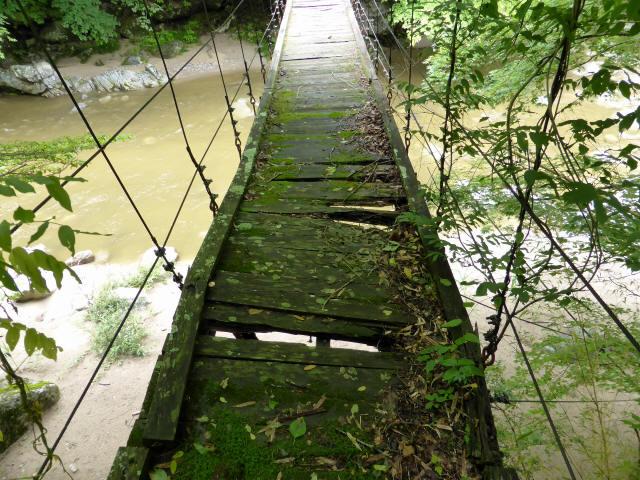 五軒小屋の吊橋3