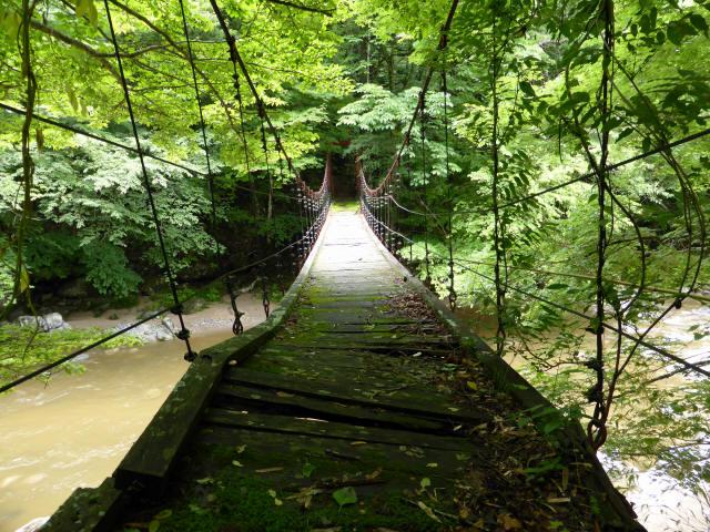 五軒小屋の吊橋4