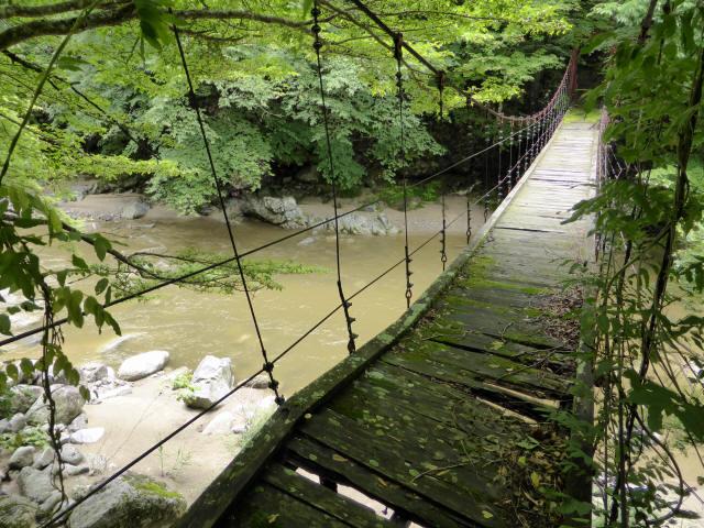 五軒小屋の吊橋5