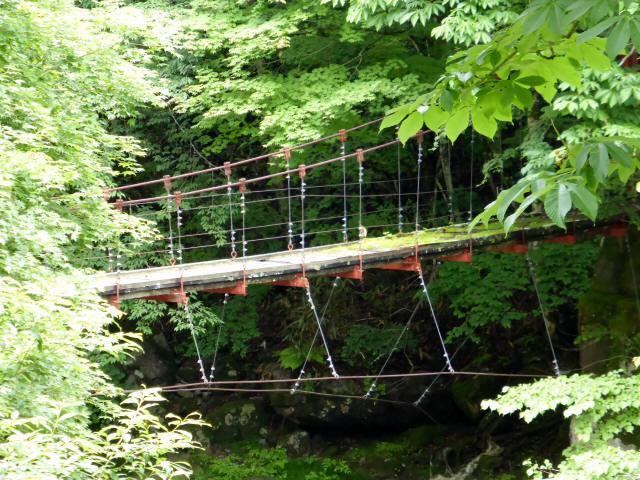 五軒小屋の吊橋6