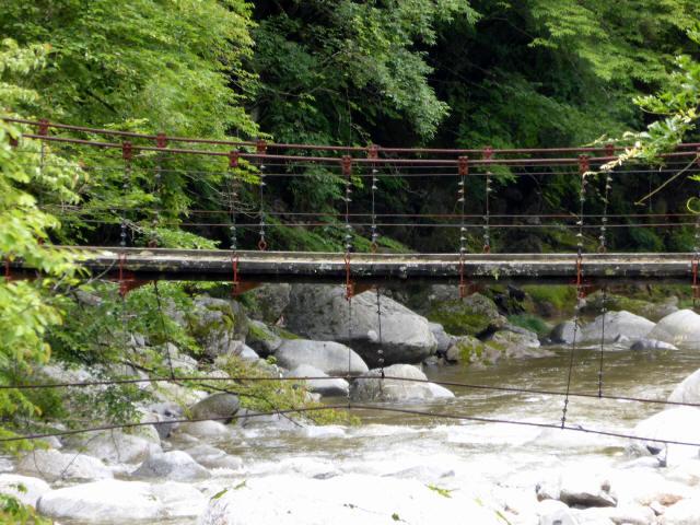 五軒小屋の吊橋7