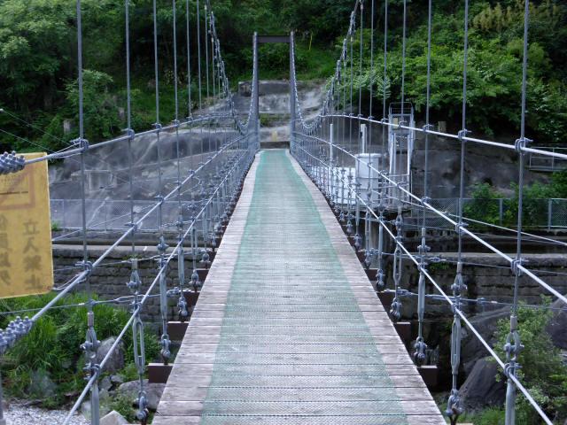 東大見発電所の吊橋4