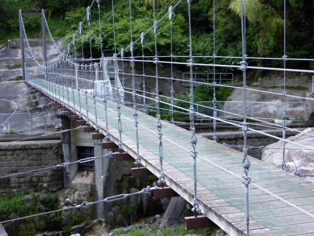 東大見発電所の吊橋5