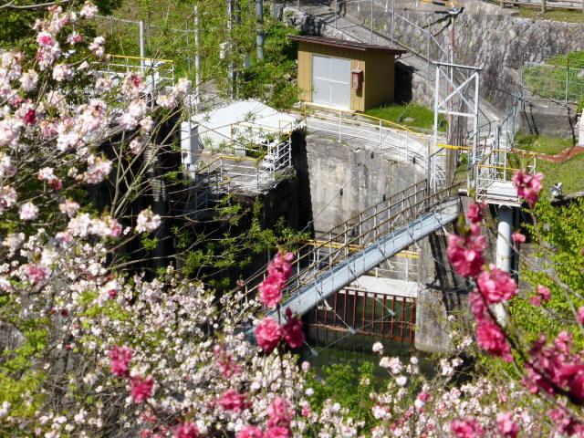 昼神水力発電所の吊橋0