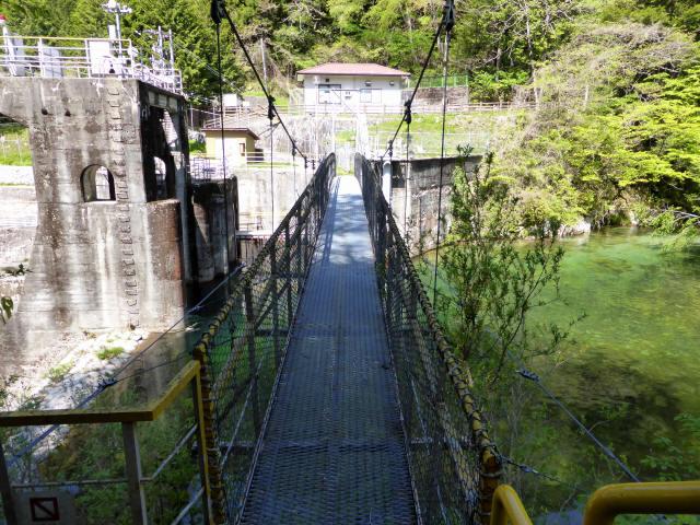 昼神水力発電所の吊橋2