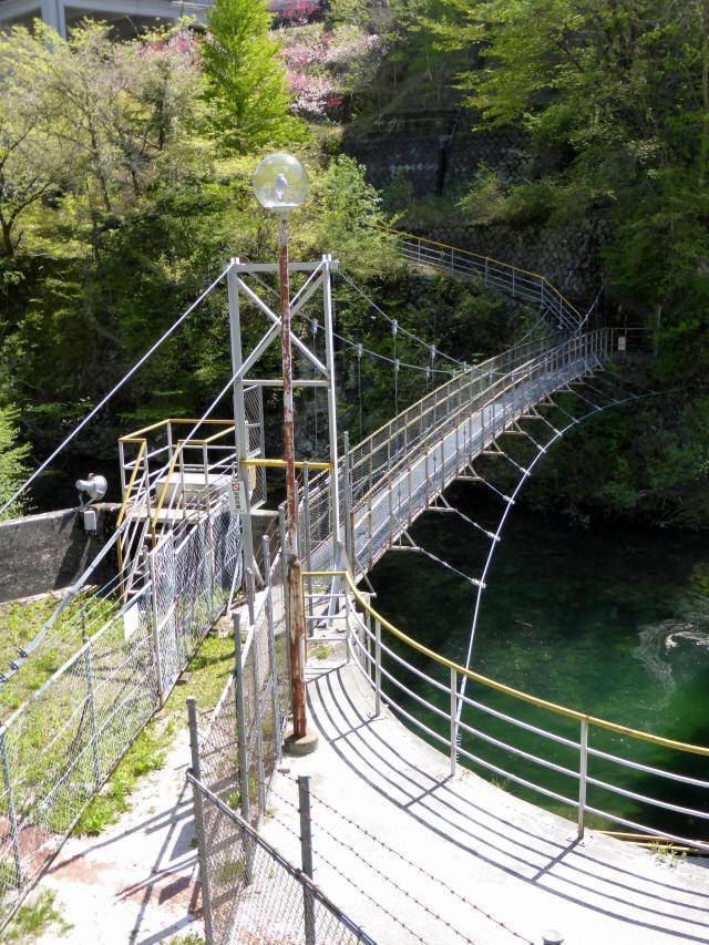 昼神水力発電所の吊橋4