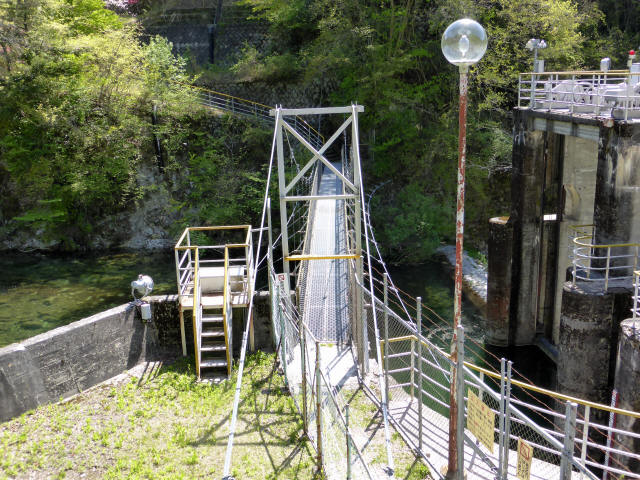 昼神水力発電所の吊橋5