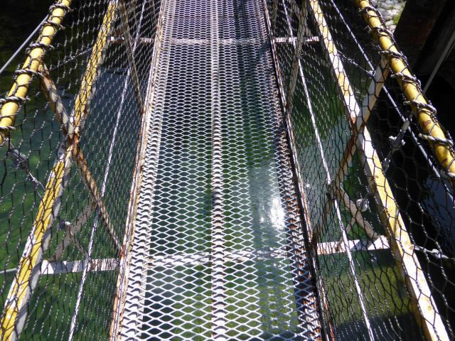 昼神水力発電所の吊橋7