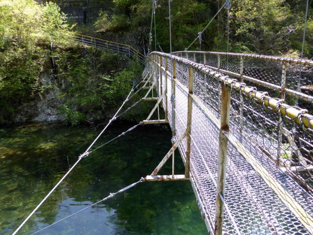 昼神水力発電所の吊橋8