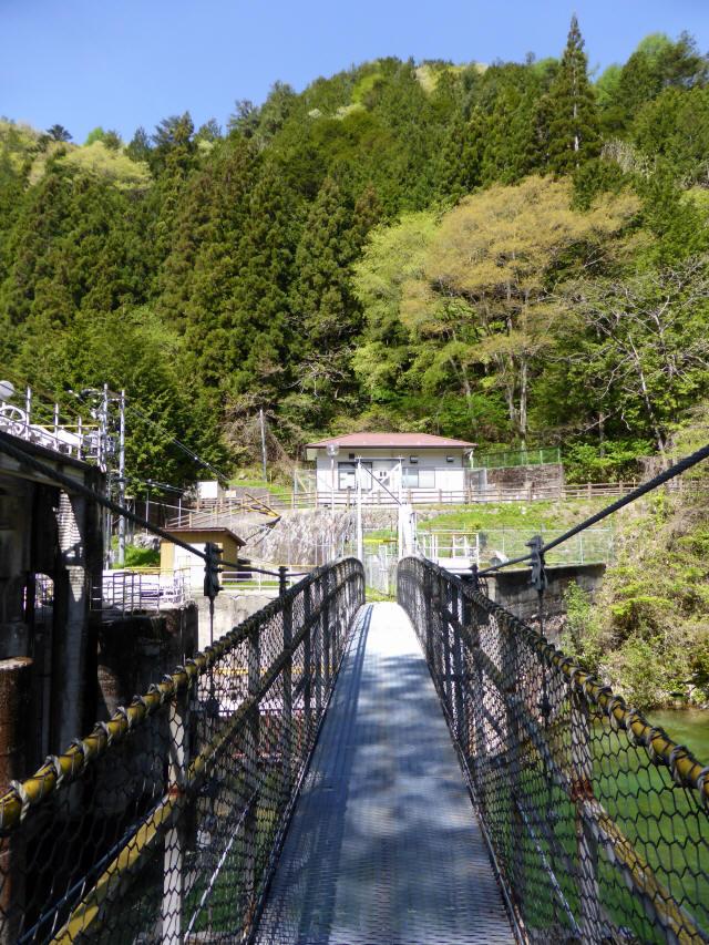 昼神水力発電所の吊橋9