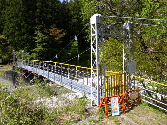 本谷堰堤の吊橋1