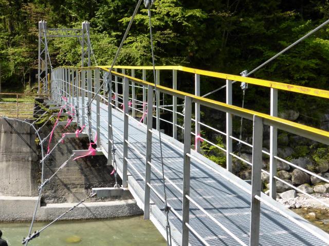 本谷堰堤の吊橋5