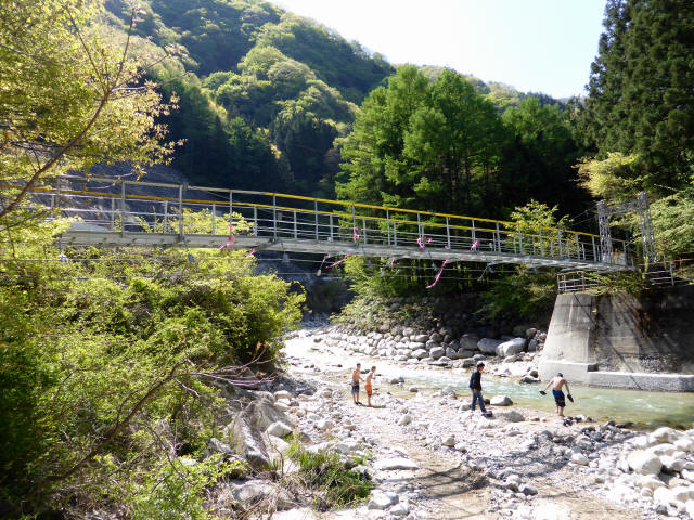 本谷堰堤の吊橋6
