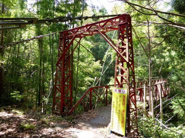 井戸川の吊橋1
