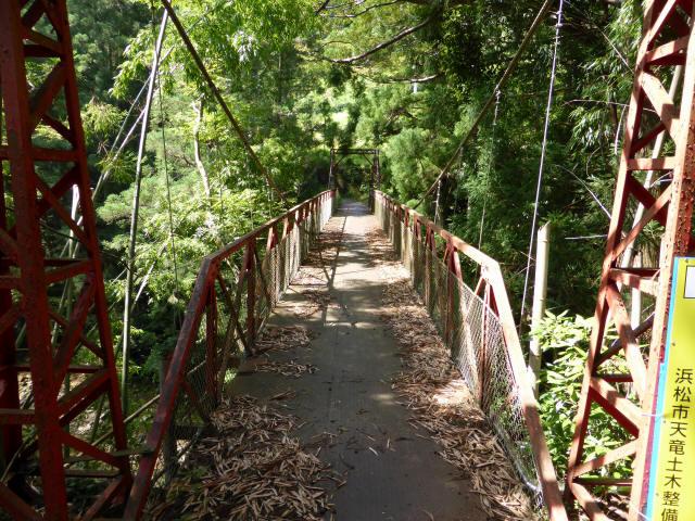 井戸川の吊橋2