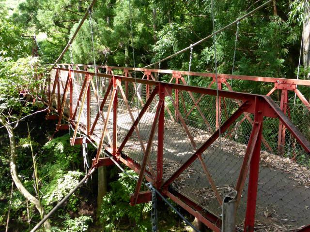 井戸川の吊橋3