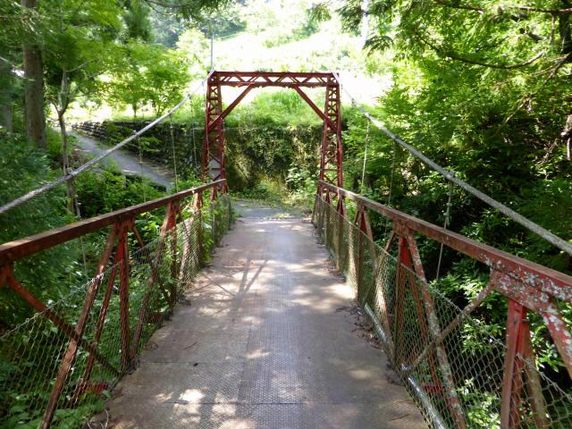 井戸川の吊橋4
