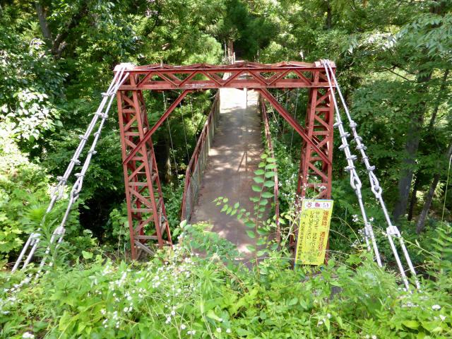 井戸川の吊橋5