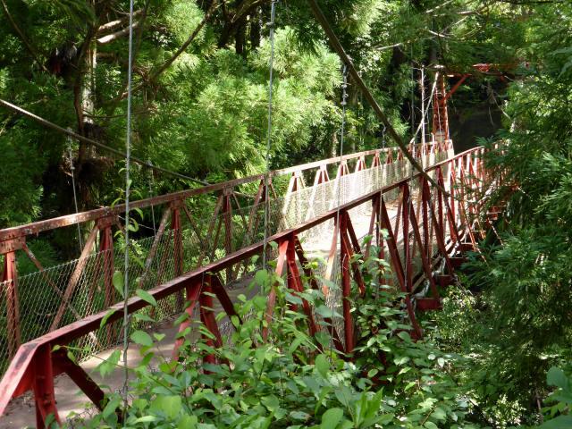 井戸川の吊橋6