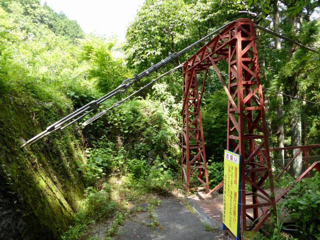 井戸川の吊橋7