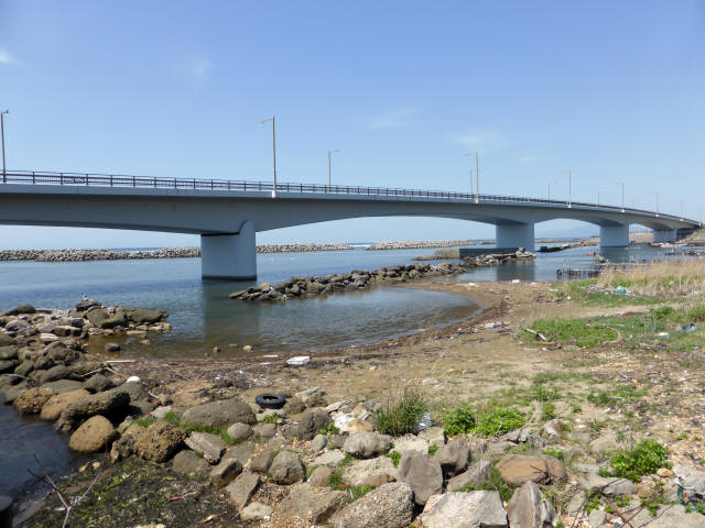 出雲崎夕日ライン橋1