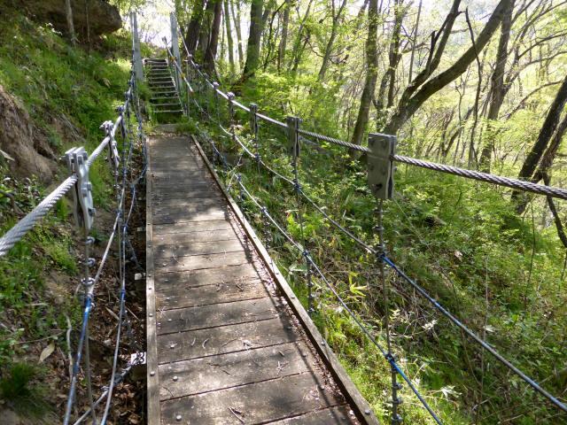 繰矢川沿いの吊橋5