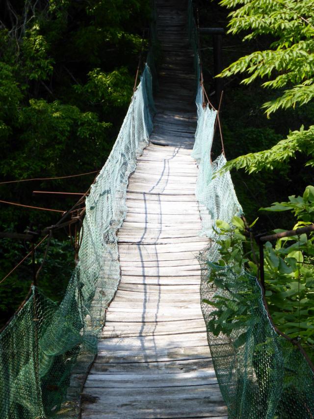 みどり湖の吊橋4