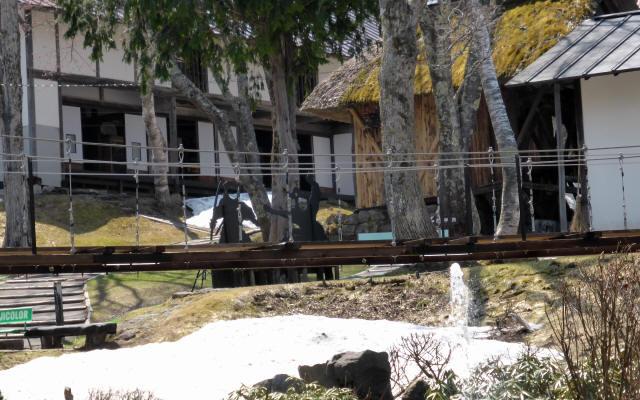 戸隠からくり屋敷の吊橋2