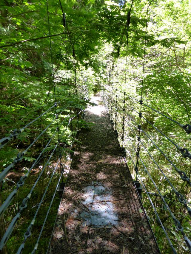 鼓ヶ滝の吊橋3