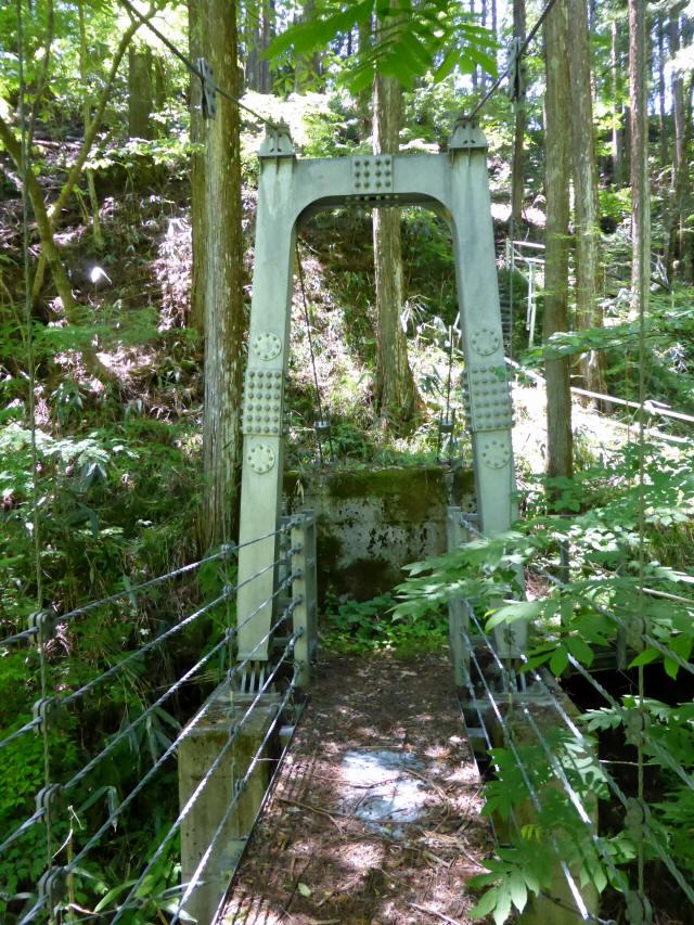 鼓ヶ滝の吊橋2