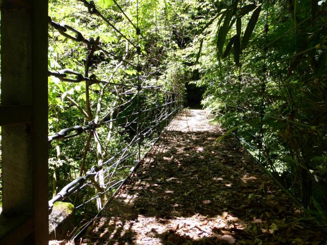 鼓ヶ滝の吊橋1