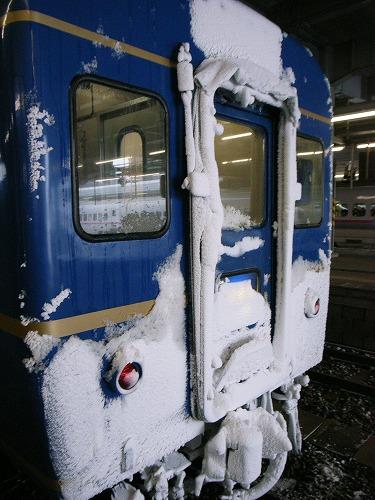凍りついた前面